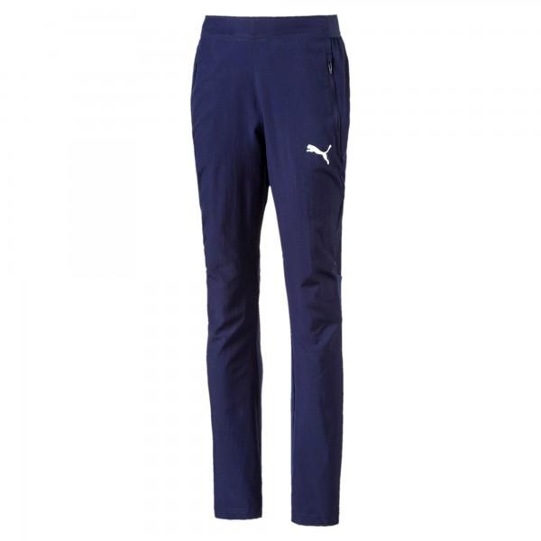 Puma LIGA Sideline Woven Pants Jr Kinder Jogginghose 655642 (Blau 06)