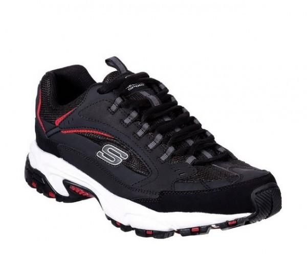 Skechers Stamina - Cutback Herren Sneaker 51286 (Schwarz-BKRD)