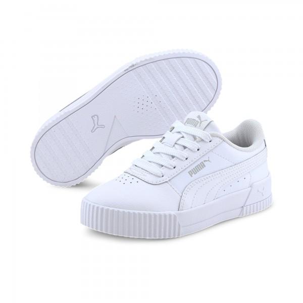 Puma Carina L PS Kinder Sneaker 370678 (Weiß 19)