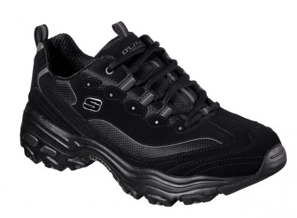 Skechers D'Lites Herren Sneaker (Schwarz-BBK)
