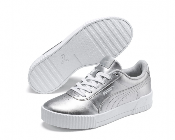 Puma Carina Metallic Damen Sneaker 372852 (Silber 01)