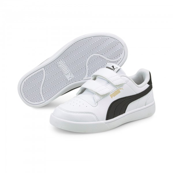Puma Shuffle V PS Kinder Sneaker 375689 (Weiß 02)