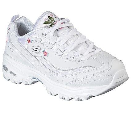 Skechers D'Lites - Bright Blossoms Damen Sneaker 11977 (Weiß-WHT)