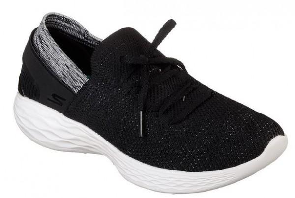 Skechers You-Spirit Slip On Damen Sneaker 14960 (Schwarz-BKW)