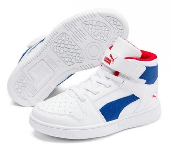 Puma Rebound LayUp SL V PS Kinder Sneaker 370488(Weiß 05)