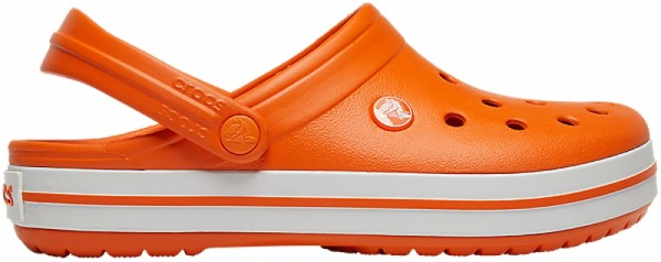 Crocs Crocband Clogs (Orange/White)