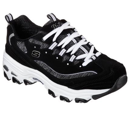 Skechers D'Lites - Me Time Damen Sneaker 11936 (Schwarz-BKW)