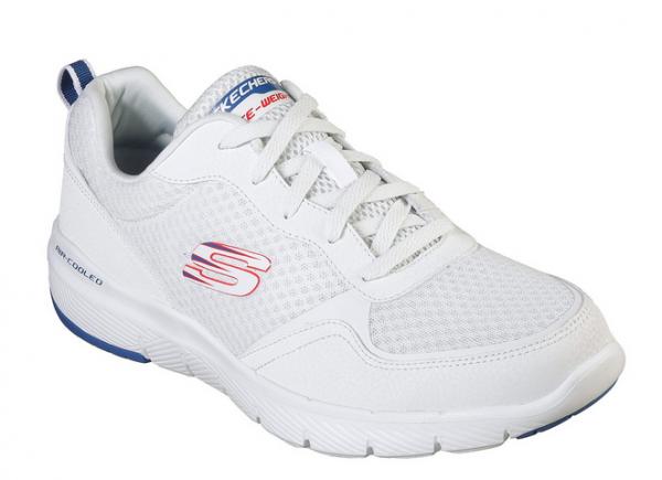 Skechers Flex Advantage 3.0 Herren Sneaker 52954 (Weiß-WBL)