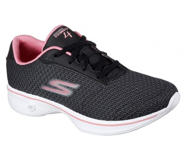 Skechers GOwalk 4 Glorify Damen Sneaker 14175 (Schwarz-BKPK)
