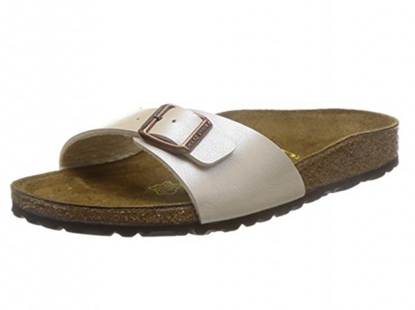 Birkenstock Madrid normal Damen Sandale 940151 (Graceful Pearl White)