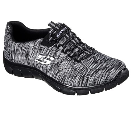 Skechers Relaxed Fit:Empire - Game On Damen Sneaker 12414 (Schwarz- BKCC)