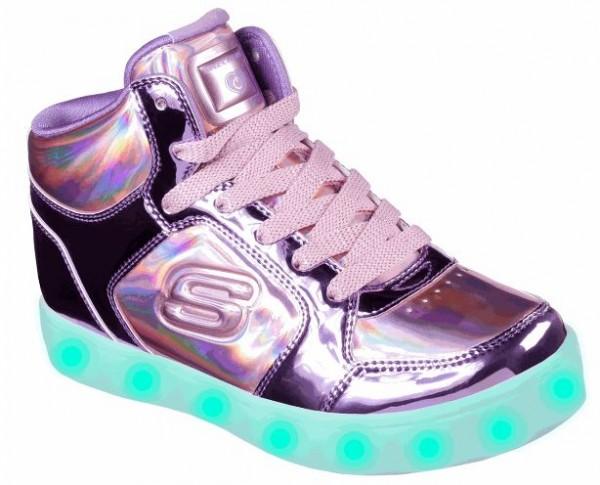 Skecher S Lights: Energy Lights -Shiny Bright Sneaker(LIla-PKPR)