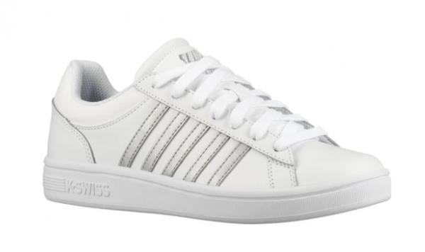 K-Swiss Court Winston Damen Sneaker (Weiß/Silber 155)