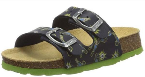 Superfit Fussbettpantoffel Kinder Schuhe 6-00111(Blau 81)