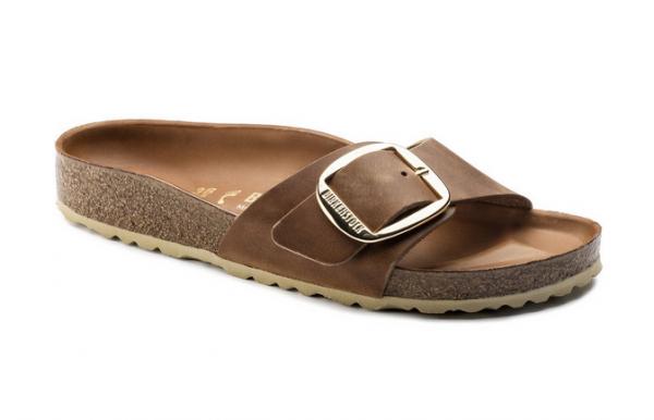 Birkenstock Madrid Big Buckle Damen Schuhe schmal 1006525 (Braun)
