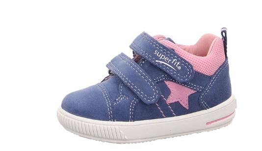 Superfit Moppy Kinder Sneaker (Blau/Rosa 81)