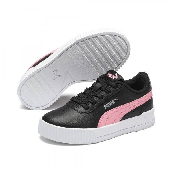 Puma Carina L PS Kinder Sneaker 370678 (Schwarz 08)