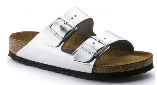 Birkenstock ARIZONA NL WB Birko-Flor normal 752711(Silber)