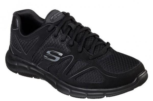Skechers Satisfaction - Flash Point Herren Sneaker (Schwarz-BBK)