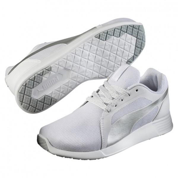 Puma ST Trainer Evo Gleam Wns Damen Sneaker 361650(Weiß/Silber 01)