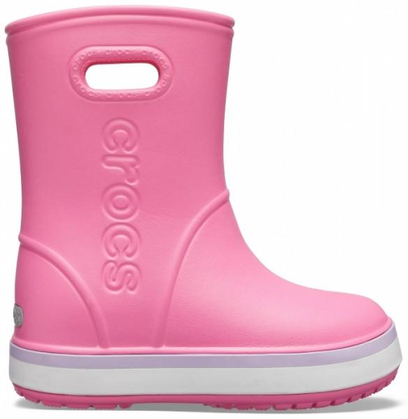 Crocs Crocband Rain Boot (Pink Lemonade/Lavender)