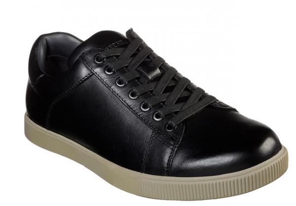 Skechers Herren Volden Fandom Sneaker Schwarz Schwarz Black