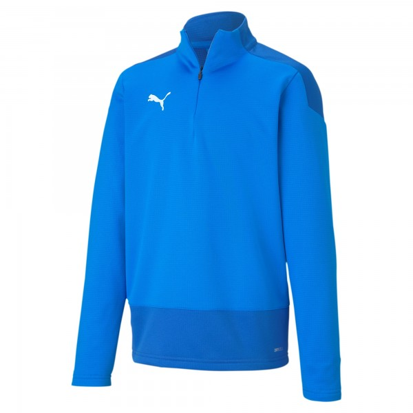 Puma TeamGOAL 23 Training 1/4 Zip Top Jr Kinder Pullover 656567 (Blau 02)