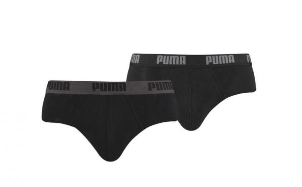 Puma 6er Pack Basic Brief Herren Unterwäsche 521030001 (Schwarz 230)