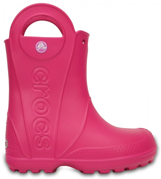 Crocs Kids Handle it Rain Boot (Candy Pink)