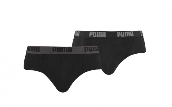 Puma 2er Pack Basic Brief Herren Unterwäsche 521030001 (Schwarz 230)