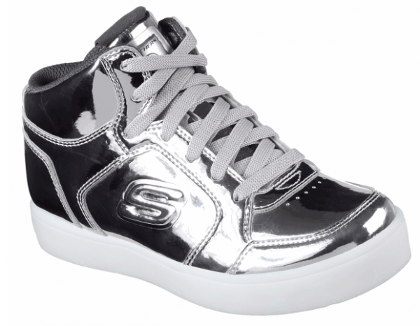 Skechers S Lights: Energy Lights Eliptic Kinder Sneaker 90603L (Silber-SIL)