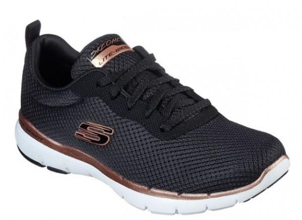 Skechers Flex Appeal 3.0 – First Insight Damen Sneaker 13070 (Schwarz-BKRG)