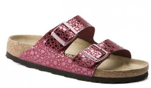 buy popular 89fa2 d66ef Birkenstock Arizona Birko-Flor Damen Sandale normal 1014368(Rot)