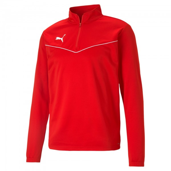 Puma TeamRise 1/4 Zip Top Herren Sweatshirt 657394 (Rot 01)