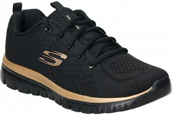 Skechers Graceful - Get connected Damen Sneaker 12615(Schwarz-BKRG)