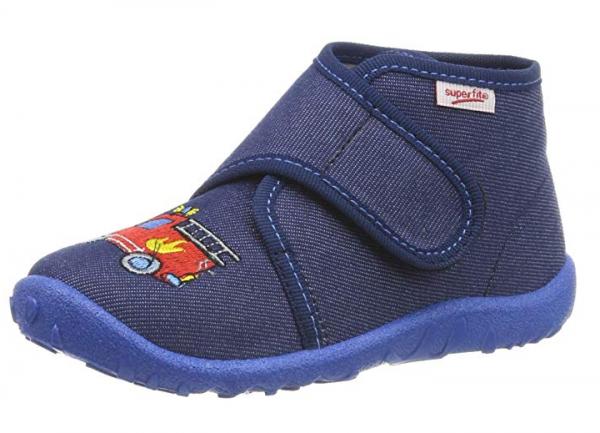 Superfit Spotty Kinder Hausschuhe (Blau 80)