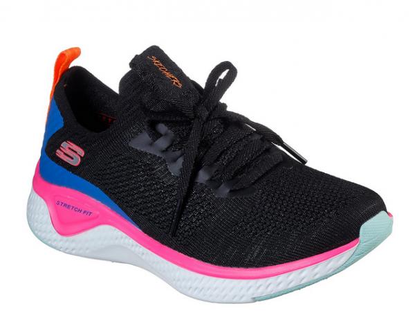 Skechers Solar Fuse Damen Sneaker 13325 (Schwarz-BKMT)
