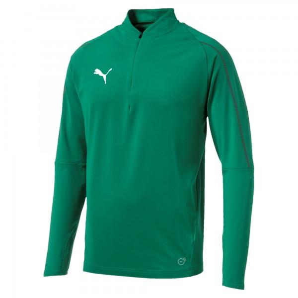 Puma FINAL Training 1/4 Zip Herren Shirt 655289 (Grün 05)