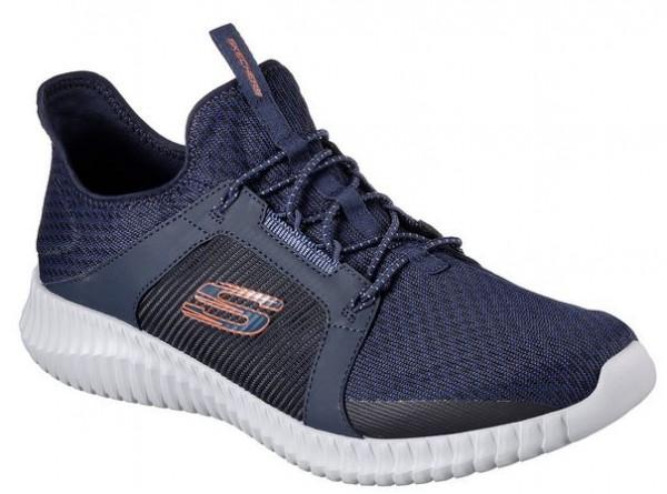Skechers Elite Flex Herren Sneaker 52640 (Blau/Orange-NVOR)