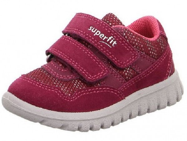 Superfit Sport7 Mini Kinder Sneaker (Rot/Rosa 50)