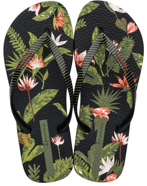 Ipanema I Love Tropical Damen Zehentrenner (Schwarz 8855)