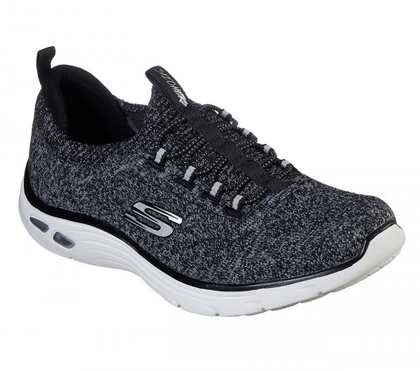 Skechers Relaxed Fit: Empire D'Lux - Sharp Witted Damen Sneaker 149007 (Schwarz-BKW)