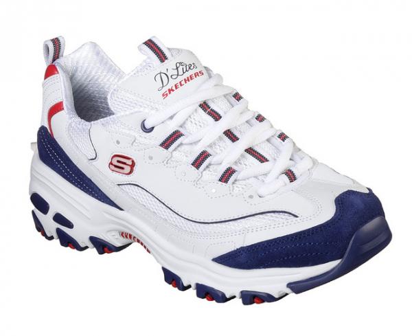 Skechers D'Lites - March Forward Damen Sneaker (Weiß/Blau-WNVR)