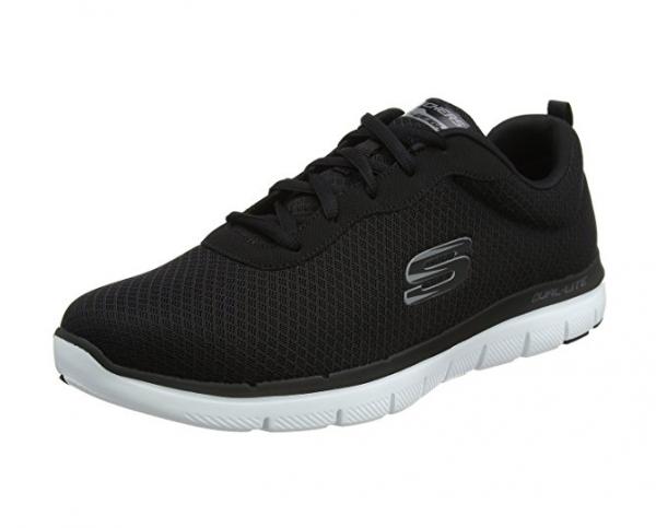Skechers Flex 2.0 - Dayshow Herren Sneaker 52125 (Schwarz-BKW)