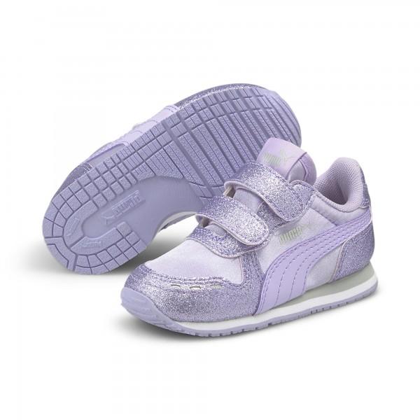 Puma Cabana Racer Glitz V Inf Kinder Sneaker 370986 (Lila 07)