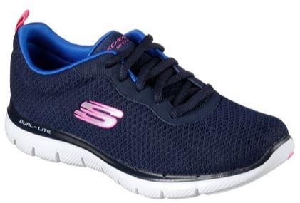 Skechers Flex Appeal 2.0 - Newsmaker Damen Sneaker 12775 (Blau-NVY)