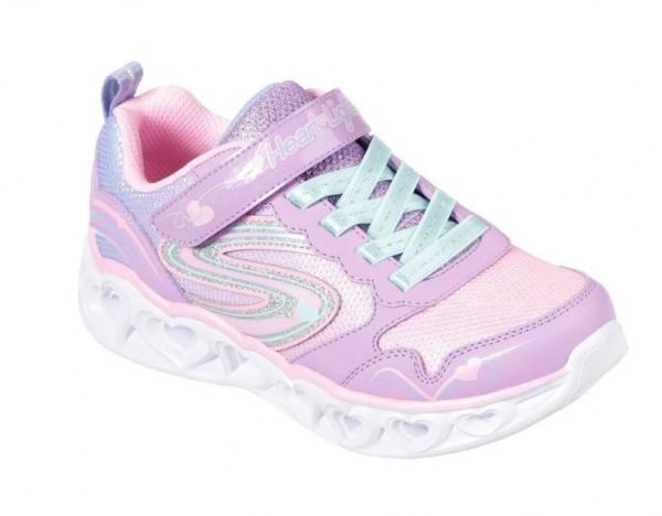 Skechers S Lights: Heart Lights - Love Spark Kinder Sneaker 20294L (Lila-LVMT)