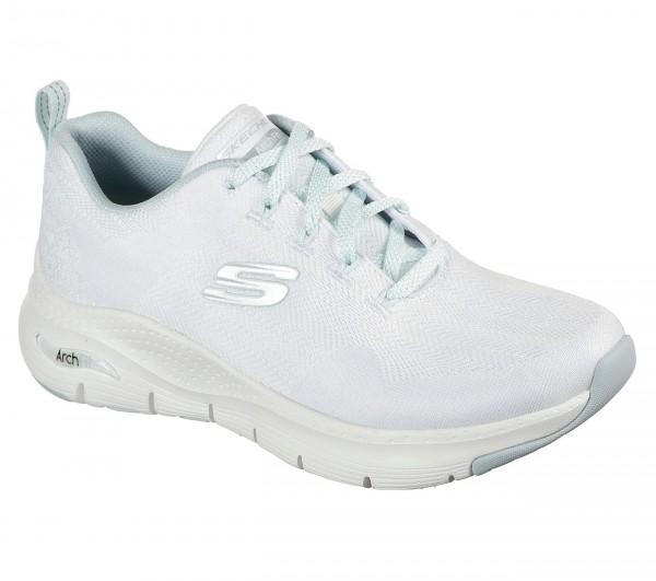 Skechers Arch Fit - Comfy Wave Damen Sneaker 149414 (Weiß-WMNT)