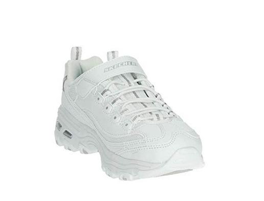 Skechers D'Lites JR Kinder Sneaker (Weiß-WSL)