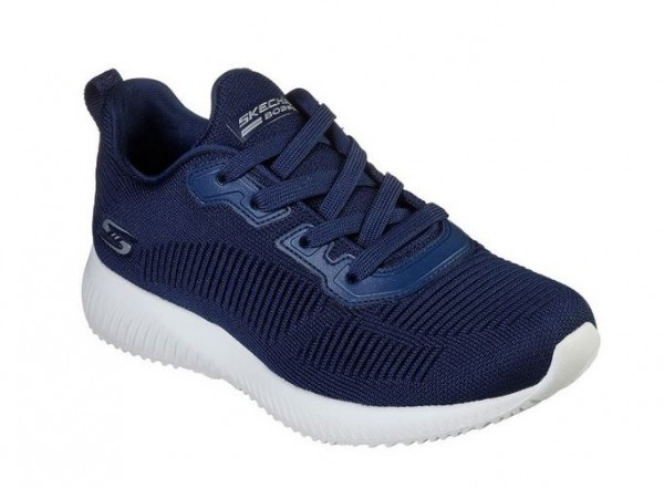 Skechers Bobs Sport Squad - Tough Talk Damen Sneaker 32504 (Blau-NVY)
